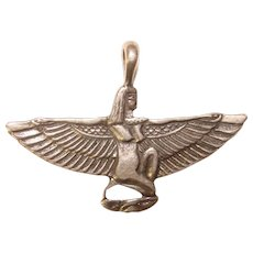 Fabulous STERLING Isis Egyptian Design Vintage Pendant