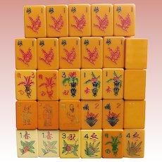 Vintage BAKELITE Mah Jong Tiles Game Pieces