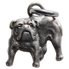 Adorable Sterling BULLDOG Dog Vintage Charm
