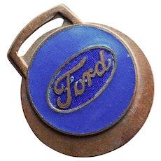 Vintage FORD Enamel Fob - Automobile Auto Car Truck