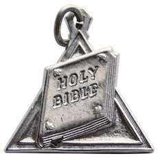Sterling BIBLE Vintage Estate Charm