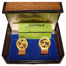 Awesome Pisces SWANK Wrap Cufflinks In Original Box