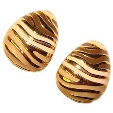 Awesome JOAN RIVERS Enamel Design Clip Earrings