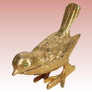 Fabulous FLORENZA Vintage Bird Pill Trinket Box - Saccharin Holder