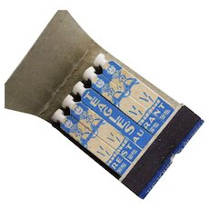 1930s Feature Matchbook - Match Tips are Chef's Hats - Teagle's Restaurant Seattle Washington - Lion Co