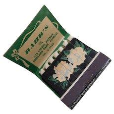 1930s 21 Feature Matchbook - Send Your Mother Flowers - Bahr's Florist Highland Park Illinois - Lion Co