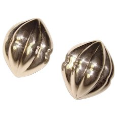 Fabulous STERLING Italy Signed Vintage Earrings