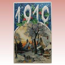 Antique 1910 Happy New Year Postcard