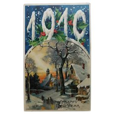 Antique 1910 Happy New Year Postcard