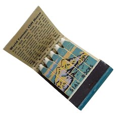 1950s CLIFF HOUSE Restaurant Feature Matchbook - Souvenir of Seal Rock San Francisco California