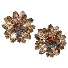 Fabulous NAVETTE & Aurora Vintage Clip Earrings
