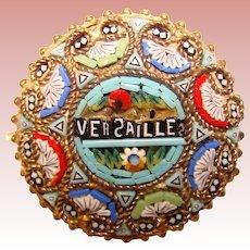 Gorgeous Versailles MICRO MOSAIC Souvenir Vintage Brooch – Italy