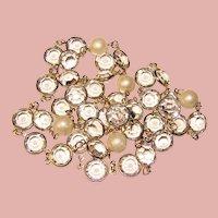 Fabulous Bezel Edge Set Crystal Stones Vintage Necklace