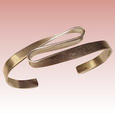 Awesome STERLING Modernist Design Vintage Cuff Bracelet