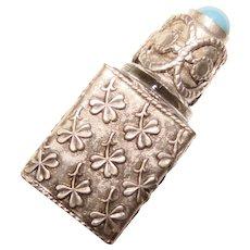 Fabulous FRANCE Ornate Clover Design Vintage PERFUME BOTTLE