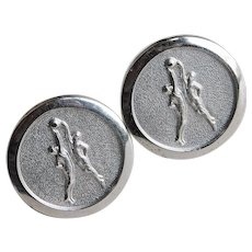 Awesome BASKETBALL TIP OFF Vintage Cufflinks