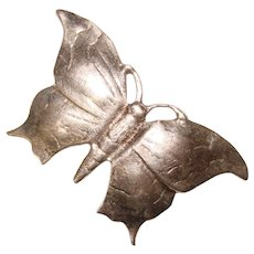 Fabulous STERLING Butterfly Vintage Brooch