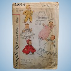 Simplicity BETSY WETSY or TINY TEARS Vintage Sewing Pattern Wardrobe - 1960s to 1970s