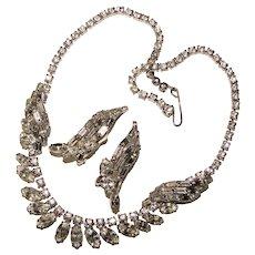 Fabulous Sparkling Rhinestone Vintage Necklace Set
