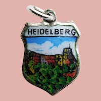 800 Silver & Enamel HEIDELBERG Vintage Charm - Souvenir of Germany