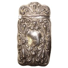 Fine Antique Ornate Design Sterling Match Safe