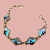 Gorgeous BUTTERFLY WING Vintage Bracelet