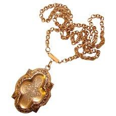Fabulous Antique Ornate Locket Necklace