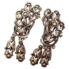 Fabulous TORTOLANI Ornate Design Vintage Dangle Earrings