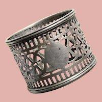 Gorgeous STERLING Openwork Napkin Ring - Signed Watson - Pierced Design