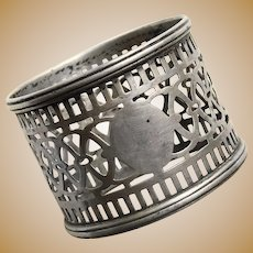 Gorgeous STERLING Openwork Napkin Ring - Signed Watson - Pierced Design