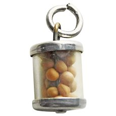 Sterling MUSTARD SEED Cylinder Vintage Charm - A Whole Lot of Faith