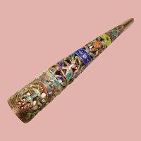 Fabulous Antique Chinese Export Enameled Fingernail Guard
