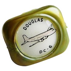 Awesome DOUGLAS DC-6 Airplane Child's Plastic Ring - 1946 - 1958 Advertising Premium Prize