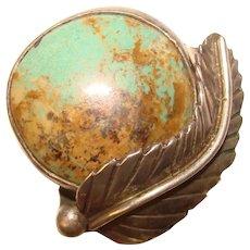 Fabulous STERLING Turquoise Vintage Southwest Design Ring