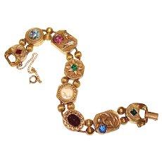2e58d8b34b89d Goldette Slides Bracelet | Ruby Lane