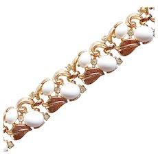 Gorgeous TRIFARI White Stones & Rhinestones Vintage Bracelet