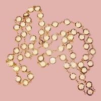 Fabulous CRYSTAL CLEAR Bezel Edge Set Crystal Stones Vintage Necklace