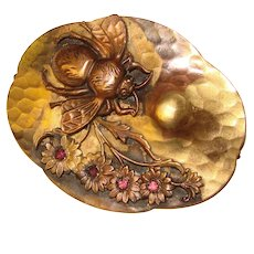 Fabulous Antique BEE Design Sash Pin Brooch - Victorian Figural