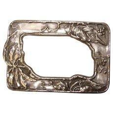 Gorgeous ART NOUVEAU Sterling Front Sash Pin Brooch