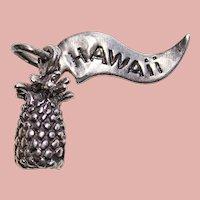 Sterling Hawaiian PINEAPPLE Vintage Charm - Souvenir of Hawaii