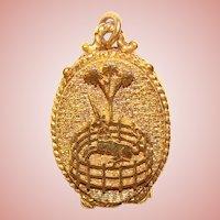 Gorgeous CAPTIVE UNICORN Vintage Perfume Locket Pendant