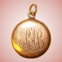 Gorgeous Antique Locket - Engraved with Initials RAB