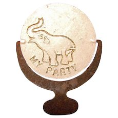 Political SECRET SPINNER Naughty Donkey & Elephant Souvenir