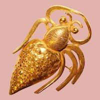 Awesome SPIDER Design Vintage Brooch