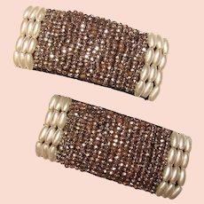 Gorgeous Antique Cut Steel Micro Bead Shoe Clips
