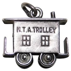 Sterling NTA TROLLEY Vintage Charm