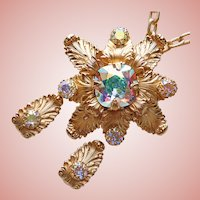 Fabulous NAPIER Aurora Rhinestone Necklace Set