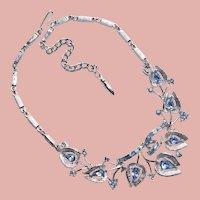 Gorgeous CORO Light Ice Blue Rhinestone Necklace - Pegasus Mark