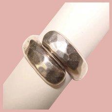 Fabulous SAM KRAMER Hammered Sterling Design Vintage Modernist Ring