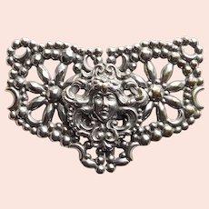 Fabulous Antique LADY FACE Buckle for Sash or Belt